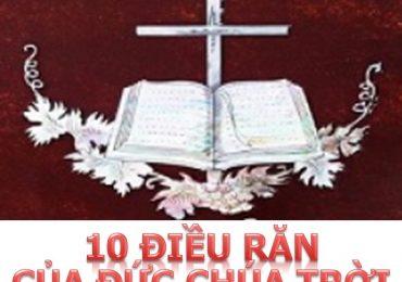 10 điều răn của Chúa Tin lành bạn phải nhớ