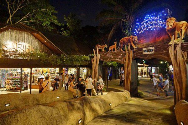 Hàng năm có hơn 1 triệu lượt du khách ghé thăm vườn thú Night Safari