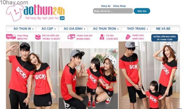 Áo thun 24h - shop bán đồ đôi nổi tiếng ở Hà Nội