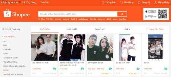 Shopee - website bán hàng uy tín