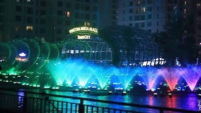 Nhạc nước tại Time City vào Trung Thu