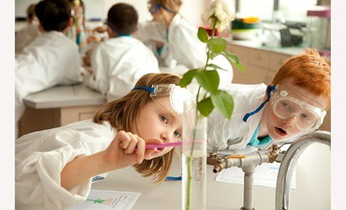 Lớp học thí nghiệm tại trường tiểu học quốc tế Anh Việt - 1 trong những những trường tiểu học Quốc tế tại Hà Nội