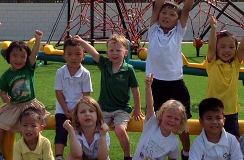 Lớp học thể dục tại tường tiểu học quốc tế Concordia