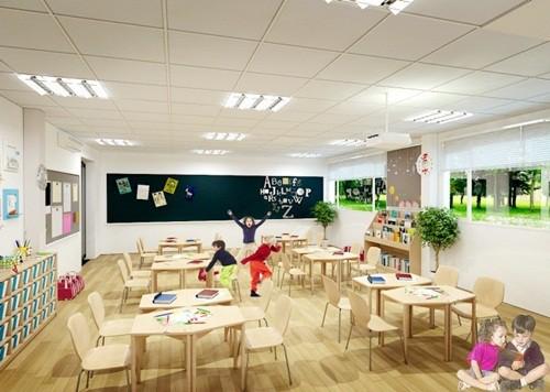 Không gian lớp học của trường tiểu học quốc tế Gateway