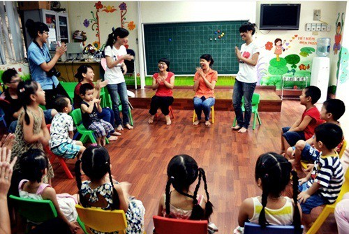 Không gian một lớp học tại trường tiểu học quốc tế Vip Hà Nội