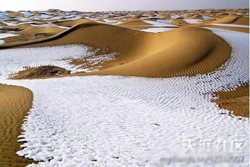 Tuyết rơi ở sa mạc Sahara