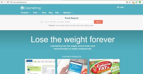Calorie King, website chuyên về thực phẩm