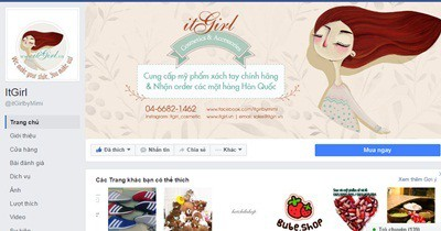 Giao diện facebook của iTGirl