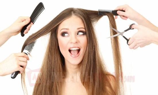 Dịch vụ làm tóc luôn đông kín khách vào dịp lễ