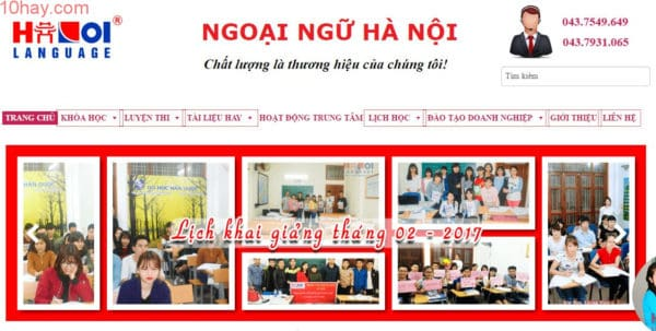 Trung tâm ngoại ngữ Hà Nội