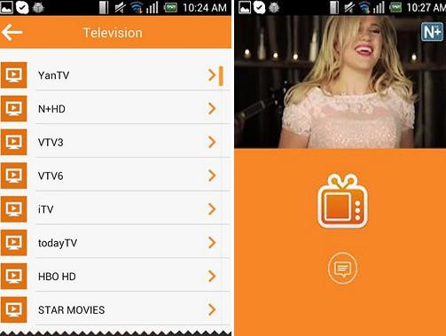 ứng dụng xem tivi