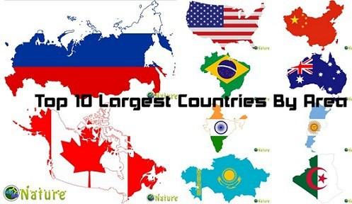 Những quốc gia có diện tích lớn nhất thế giới