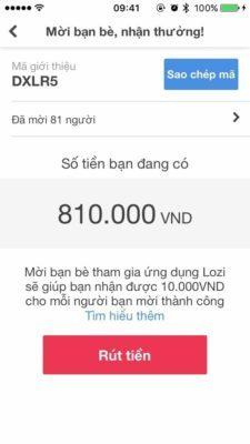 Dùng mã giới thiệu của bạn để mời bạn bè tham gia và nhận tiền thưởng từ Lozi