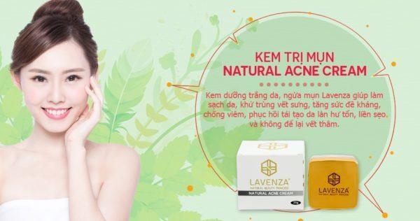 Kem đặc trị trị mụn Lavenza Natural Acne Cream