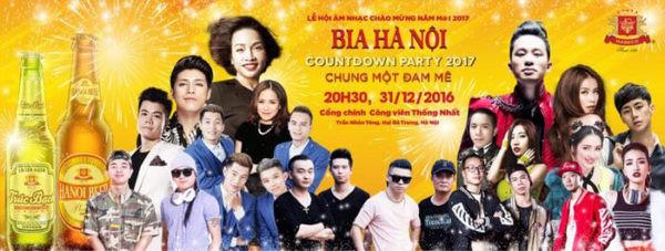 Bia Hà Nội Countdown Party 2017