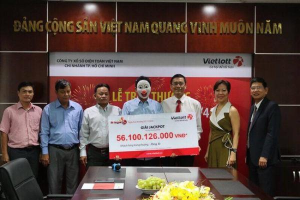 Người trúng số Vietlott 56 tỷ đồng