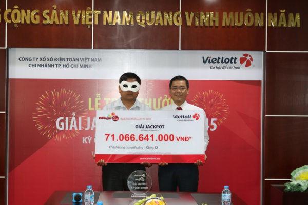 Người trúng số Vietlott 71 tỷ đồng