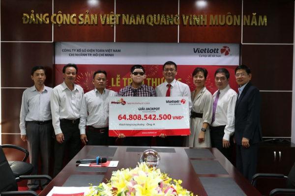Người trúng số Vietlott gần 65 tỷ đồng