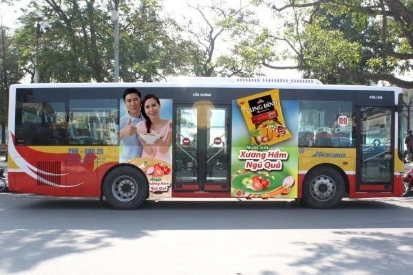 công ty cung cấp dịch vụ quảng cáo trên xe bus