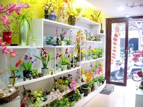 cửa hàng hoa đất sét nổi tiếng ở Hà Nội