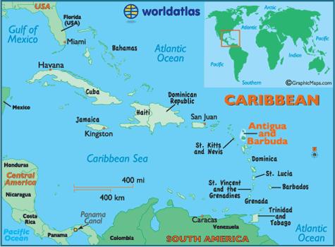 Antigua và Barbuda là 1 quốc đảo nằm ở Trung Mỹ