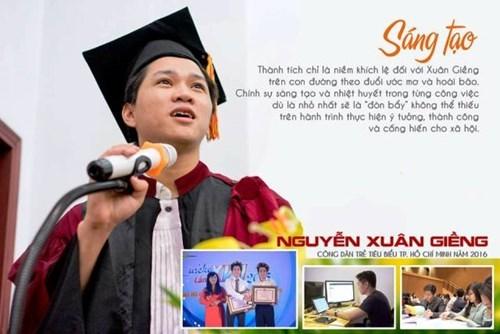 Công dân trẻ tiêu biểu Nguyễn Xuân Giềng