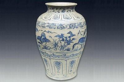 Bảo vật Quốc gia: Bình gốm hoa lam vẽ Thiên Nga