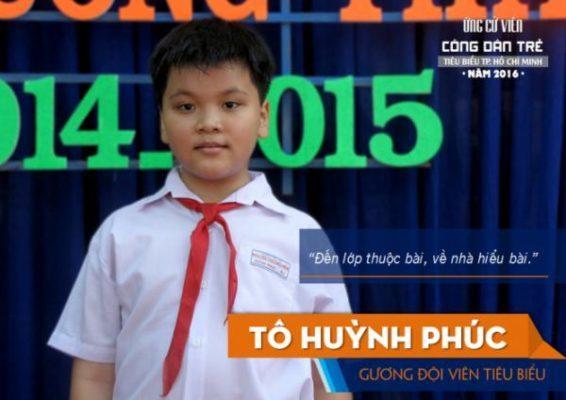 Em Tô Huỳnh Phúc mới chỉ học lớp 6