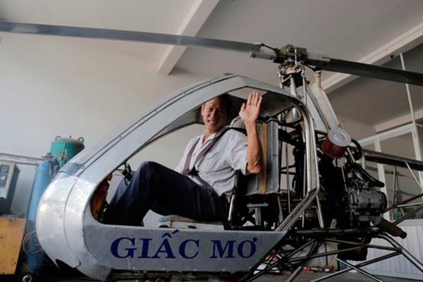 Máy bay trực thăng - mô hình sáng chế của người thương binh