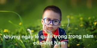 các ngày lễ quan trọng trong năm của Việt Nam