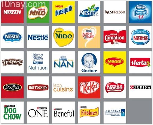 Sản phẩm của công ty sản xuất hàng tiêu dùng lớn - Nestle S.A