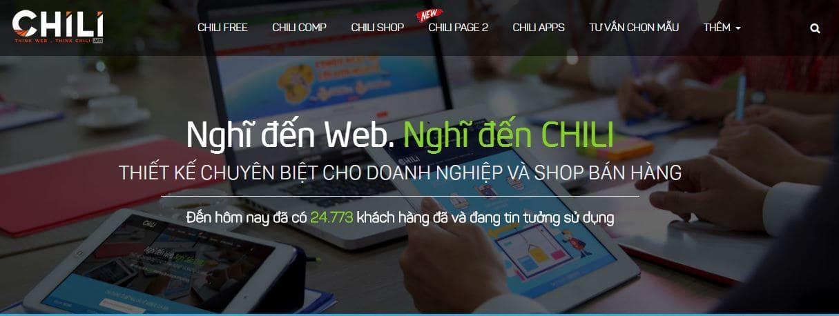 Dịch vụ thiết kế web chuyên nghiệp Chili